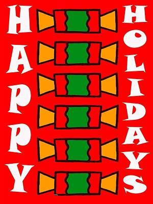 Happy Holidays 7 Art Print by Patrick J Murphy