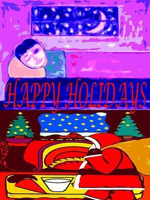 Christmas Eve Painting - Happy Holidays 70 by Patrick J Murphy