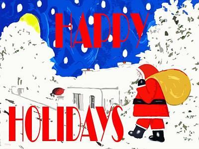Happy Holidays 86 Art Print