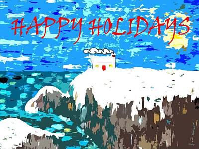 Snow Scenes Mixed Media - Happy Holidays 90 by Patrick J Murphy