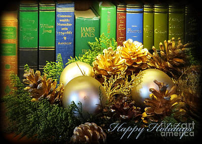 Photograph - Happy Holidays Books by Dawn Gari