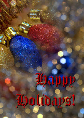 Photograph - Happy Holidays Card 03 by Karen Musick
