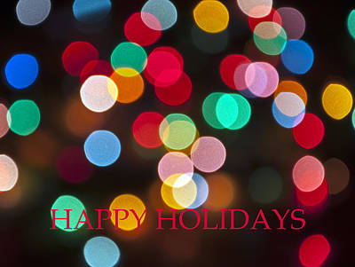Photograph - Happy Holidays Card 1 by Glenn Gordon