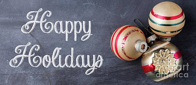 Photograph - Happy Holidays Chalkboard Mug by Edward Fielding