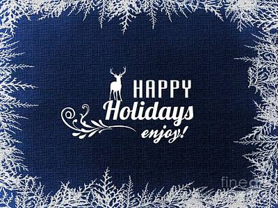 Digital Art - Happy Holidays  by Erika H