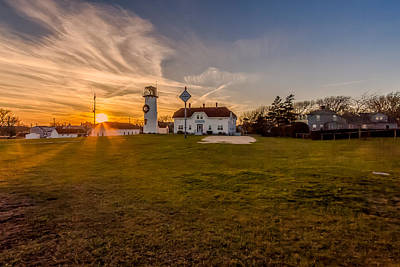 Photograph - Happy Holidays From Chatham Lighthouse by Brian MacLean