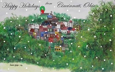 Happy Holidays From Cincinnati Ohio Art Print