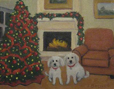 Painting - Happy Holidays From Howie And Eddie by Jennifer Boswell