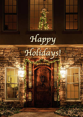 Photograph - Happy Holidays Greeting Card by Joni Eskridge