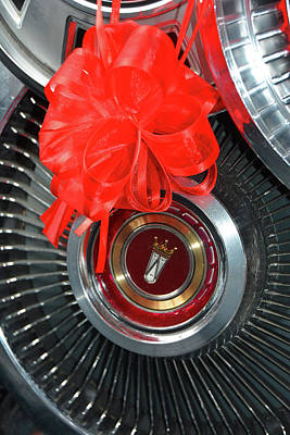 Photograph - Happy Holidays Hubcap by Mike Martin