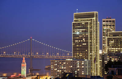 Downtown San Francisco Photograph - Happy Holidays by Sean Duan
