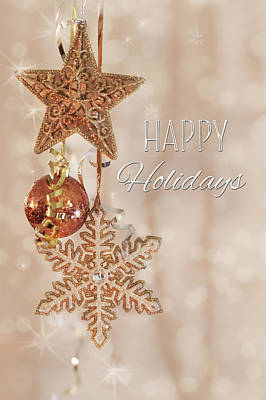 Photograph - Happy Holidays Twinkles by Lori Deiter