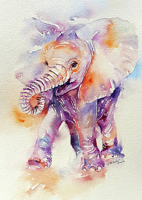 Painting - Happy Holly Baby Elephant by Arti Chauhan