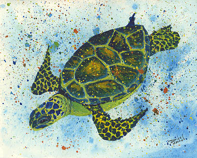 Painting - Happy Honu by Darice Machel McGuire