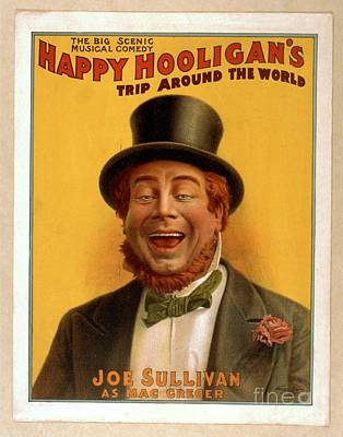Painting - Happy Hooligans Trip Around The World Joe Sullivan Vintage Art Poster by R Muirhead Art