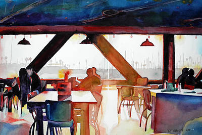 Snack Bar Painting - Happy Hour by Bill Gibson
