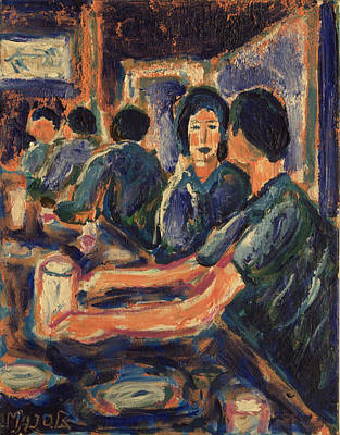 Print featuring the painting Happy Hour by Clarence Major