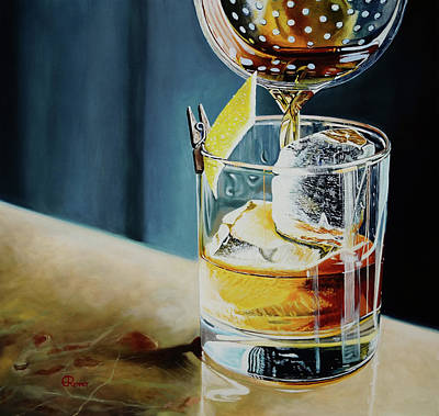 Bar Painting - Happy Hour by Eric Renner