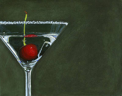 Martini Painting Rights Managed Images - Happy Hour Royalty-Free Image by Karyn Robinson