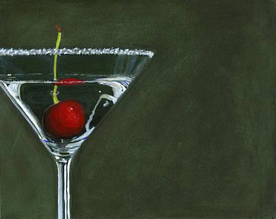 Martini Paintings - Happy Hour by Karyn Robinson