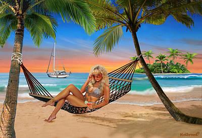 Digital Art - Happy Hour On The Beach by Glenn Holbrook