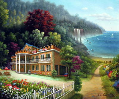 Painting - Happy House by Yoo Choong Yeul