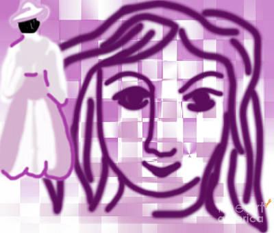 Happy Imagination Face Art Print by Artist Nandika Dutt