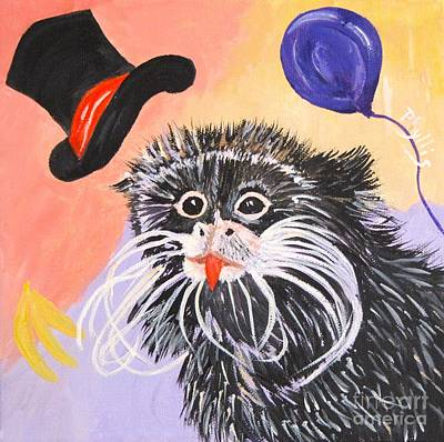 Painting - Happy Emperor Tamin Monkey by Phyllis Kaltenbach