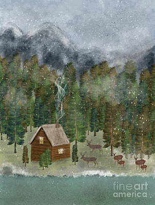 Painting - Happy In The Wilderness by Bleu Bri