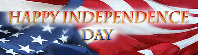 Photograph - Happy Independence Day by Les Cunliffe