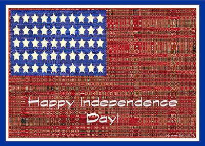 Happy Independence Day Poster Art Print