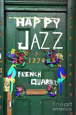 Happy Jazz French Quarter New Orleans Art Print