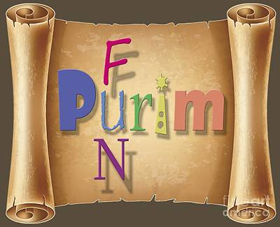 Purim Digital Art - Happy Joyous Fun Purim  by Humorous Quotes
