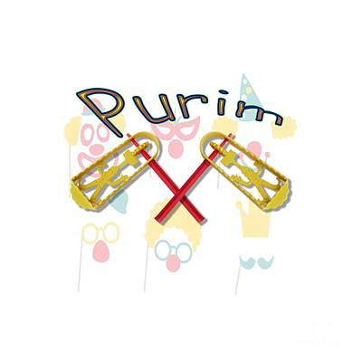 Purim Photograph - Happy Joyous Purim  by Humorous Quotes