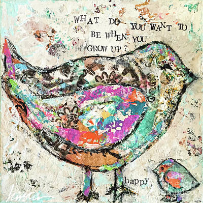 Painting - Happy by Kirsten Reed