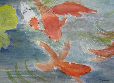 Happy Koi Art Print by Elvira Ingram