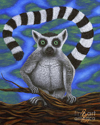 Painting - Happy Lemur by Rebecca Parker