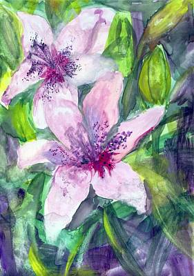 Painting - Happy Lilies After The Rain by Claudia Smaletz