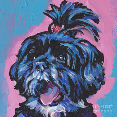 Shih Tzu Painting - Happy Little Shihtzy by Lea S