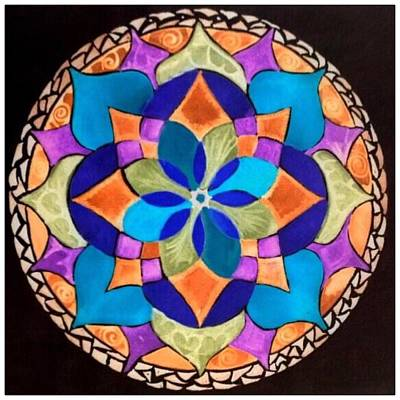 Painting - Happy Mandala  by Sandra Lira