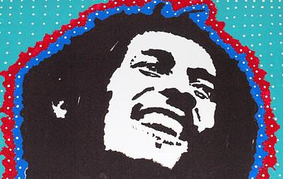 Musicians Drawings - Happy Marley by Robert Margetts
