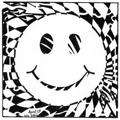 Frimer Drawing - Happy Maze by Yonatan Frimer Maze Artist