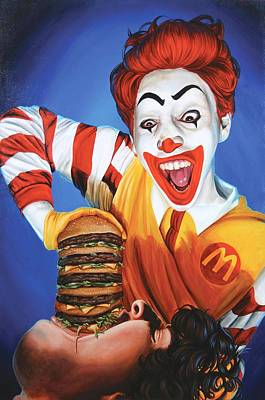 Clown Painting - Happy Meal by Kelly Gilleran