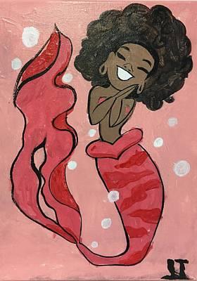 Easterseals Painting - Happy Mermaid by Joanne T