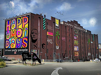 Mixed Media Royalty Free Images - Happy Mondays Megastore and Museum Royalty-Free Image by Mal Bray