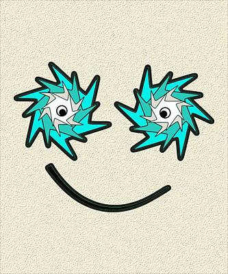 Digital Art - Happy Monster by Anastasiya Malakhova