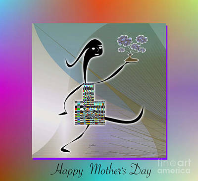 Digital Art - Happy Mother's Day   2 by Iris Gelbart
