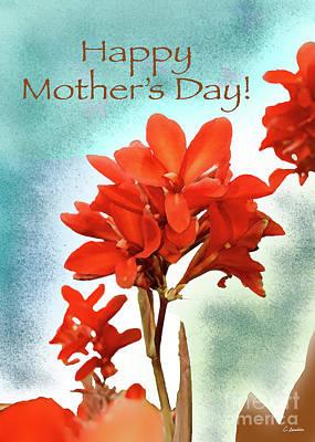 Digital Art - Happy Mothers Day - Card Number 001 By Claudia Ellis by Claudia Ellis