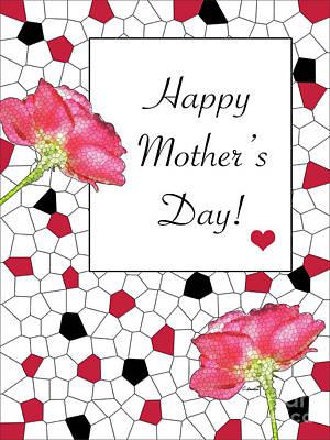 Digital Art - Happy Mother's Day - Card Number 007 Bty Claudia Ellis by Claudia Ellis