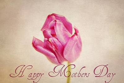 Purple Flowers Digital Art - Happy Mothers Day by Cathie Tyler
